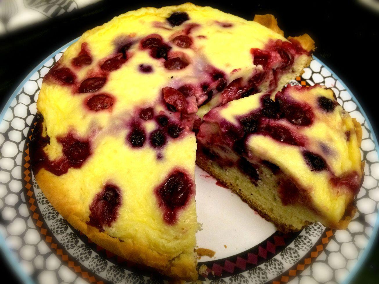 Ягодный пирог в мультиварке рецепт