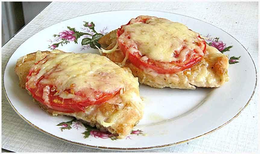 Куриные грудки по-французски с картошкой с фото
