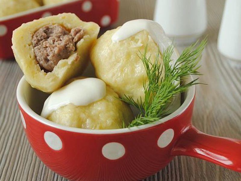 Клецки из картофеля с мясом рецепт пошагово 47