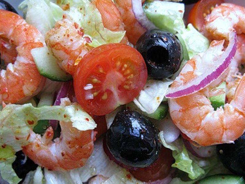 фото и с черри креветками салат помидорами
