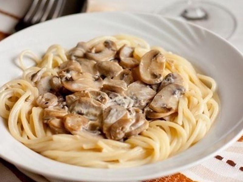Грибной сливочный соус для спагетти