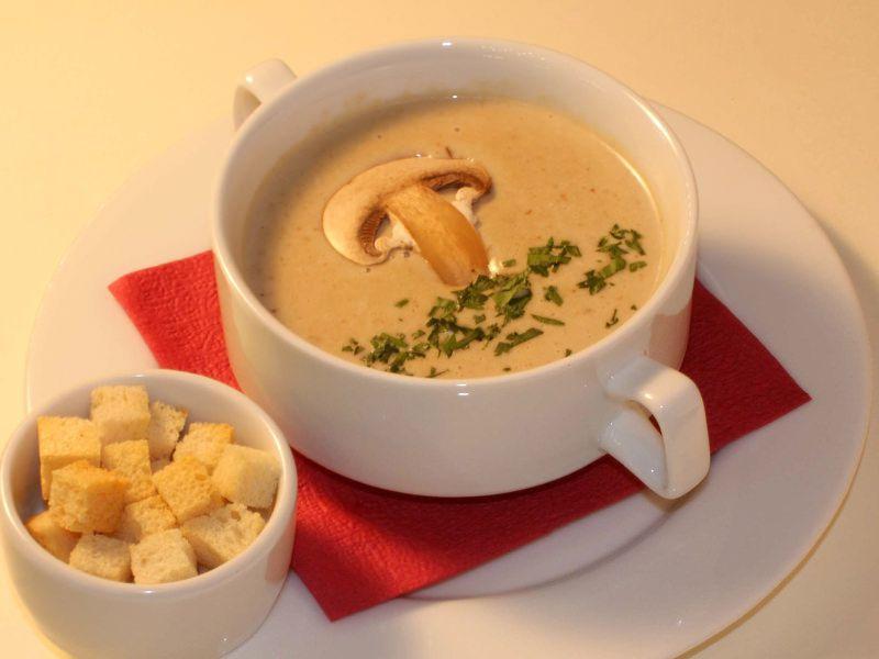 Крем суп из шампиньонов рецепт пошаговый с